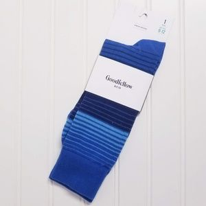 NWT Goodfellow Blue Striped Socks Mens Size 6-12